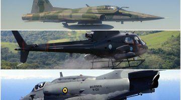 As três forças armadas do Brasil possuem aeronaves de combate (Divulgação)