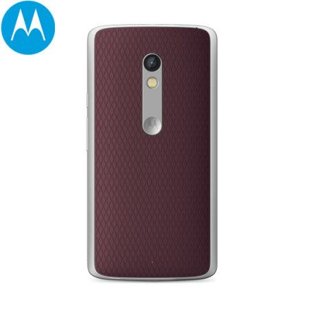 Official Motorola Moto X Play Shell Replacement Back Cover - Cabernet - Customise your Moto X Play to match your mood with this stylish Official Motorola Shell replacement back cover in cabernet wine red for the Moto X Play.