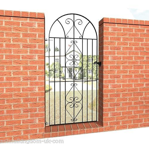 Windsor Wrought Iron Bow Top Metal Gate With Images Entrance