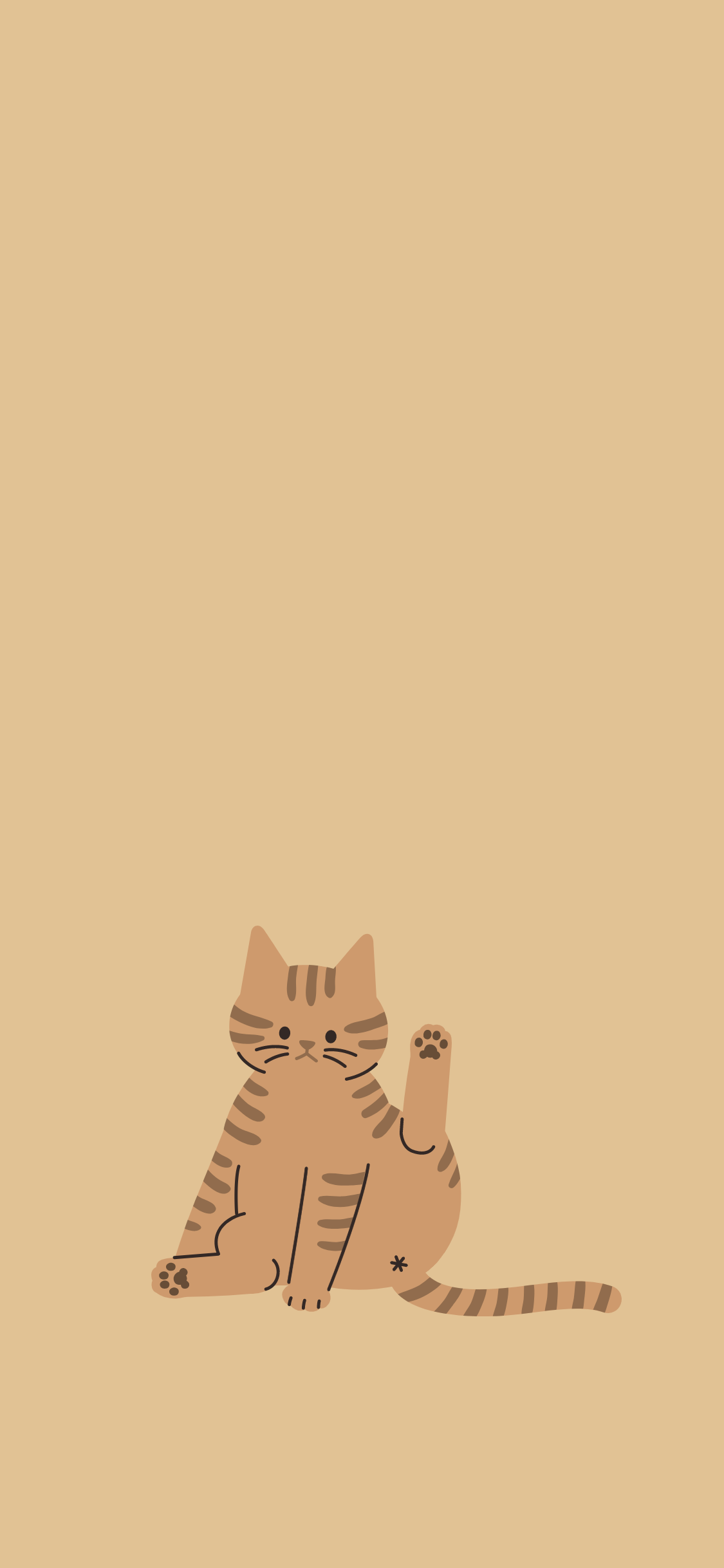 아이폰x Xs 배경화면 고화질 고양이발바닥 일러스트 배경화면 고양이 그림 고양이 배경화면