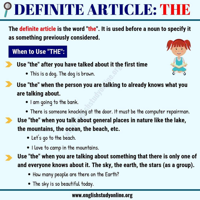 Definite Article The