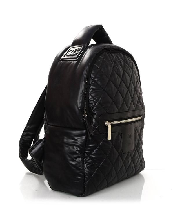 df2d983390ee Chanel 2016 Black Nylon Coco Cocoon Backpack Bag