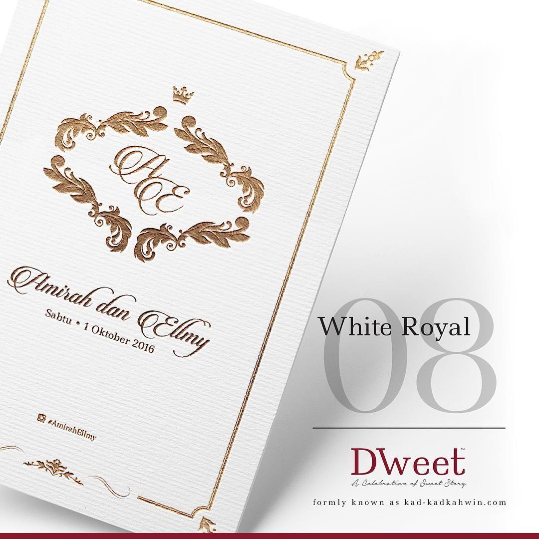 White Royal 08 New Collection White Royal Khas Untuk Mereka Yang Menyukai Design Simple T Invitations White Invitations Wedding Invitations