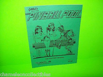Pinball pool gottlieb 1979 original pinball machine service pinball pool gottlieb 1979 original pinball machine service instruction manual sciox Images