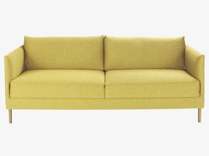 5dd62fb1fb8 HYDE Yellow fabric 3 seater sofa