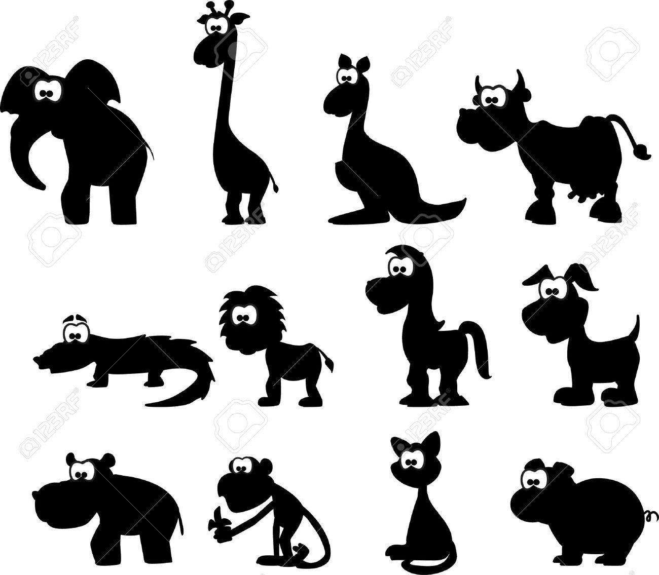 Cartoon Silhouettes Of Animals Cartoon Silhouette Animal Silhouette Silhouette