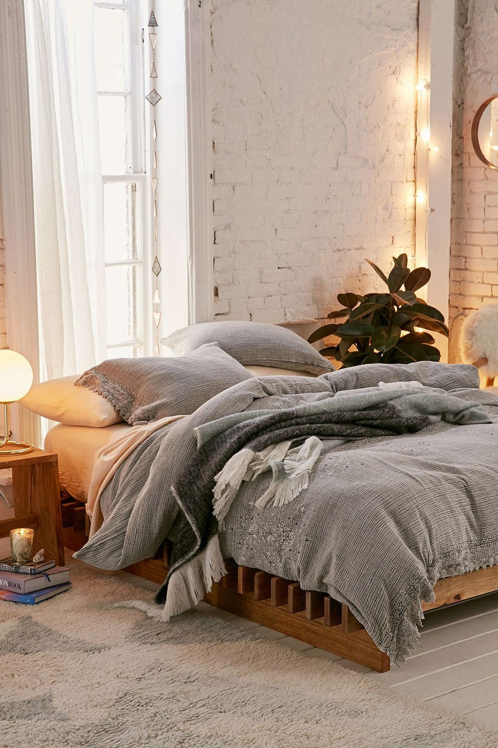 Cassia Embroidered Duvet Cover Urban outfitters bedroom