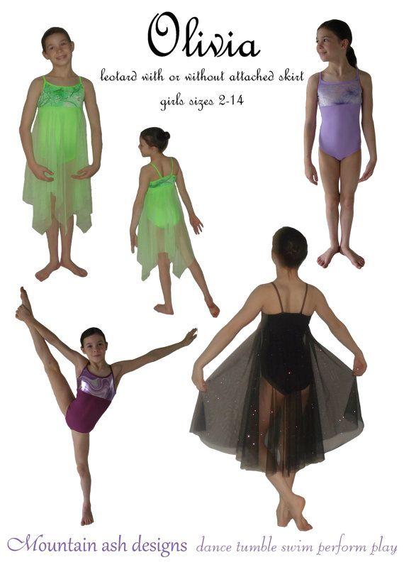 Olivia pdf sewing pattern gymnastics ballet dance by tumblentwirl ...