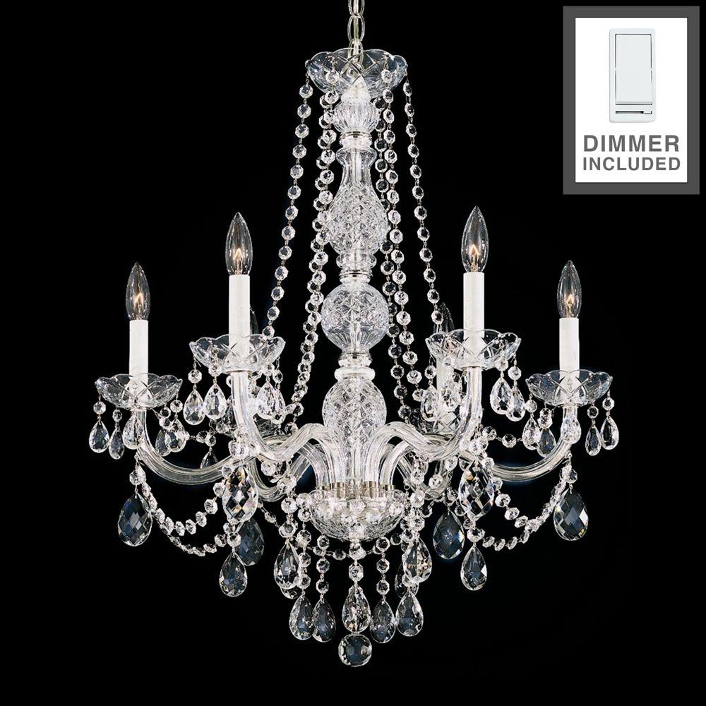 Arlington 24 Wide Heritage Crystal Chandelier With Dimmer Style 35d20 Chandelier Lighting Chandelier Crystals