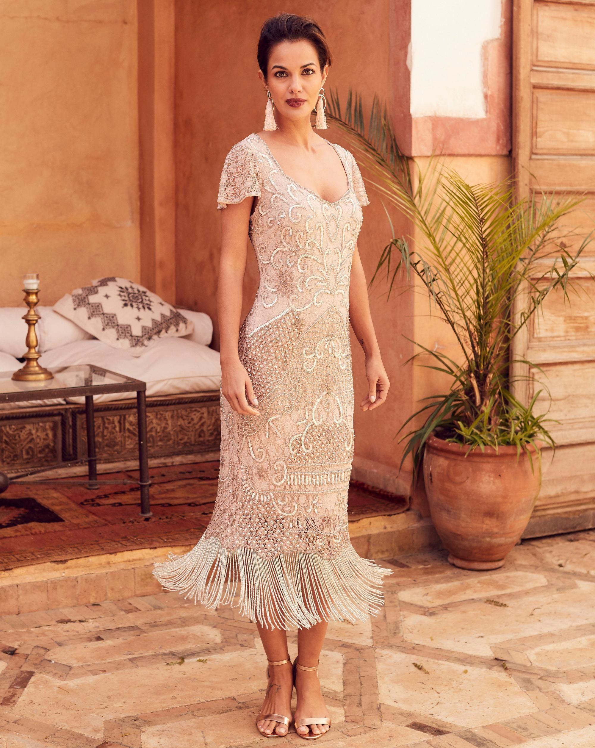 1920s Evening Dresses Formal Gowns Beaded Fringe Dress Fringe Flapper Dress Dresses [ 2514 x 2000 Pixel ]