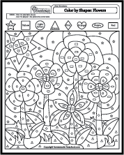 Color by shapes coloring pages coloring pages pinterest Preschool Worksheets Color by Shape Preschool Shape Coloring Pages Coloring Pages Color by Letter