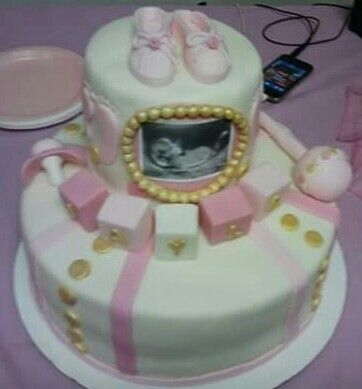 Baby Shower Cake With Ultrasound Pic Lashanda Jenkins Mrs Cake