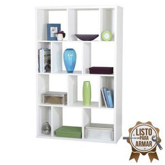 Librero crea muebles lc7bl moderno blanco remodelaci n e for Crea muebles