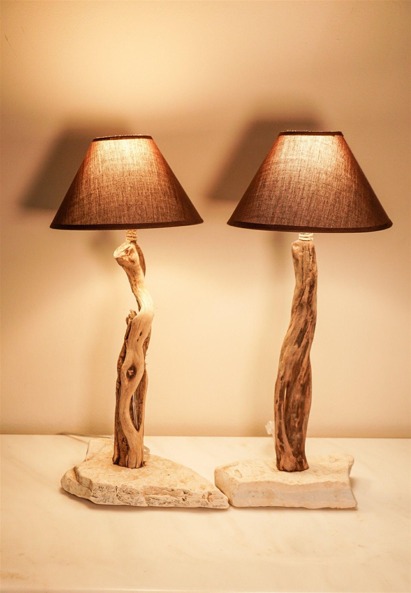 Rock Bases Driftwood Bedside Lamps Driftwood Lamp Wood Lamps Diy Light Fixtures