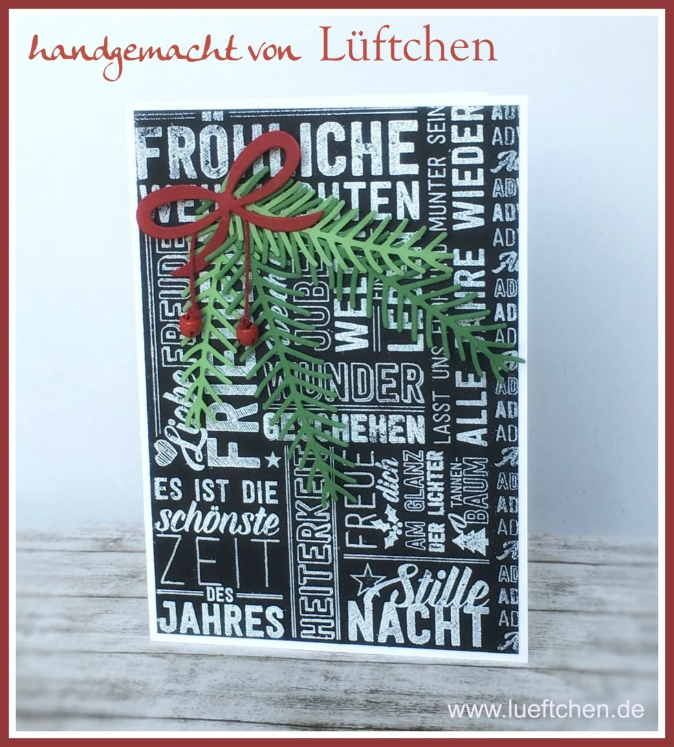 Lüftchen Stempelstudio Bergedorf: Weihnachtspotpourri in schwarz weiß