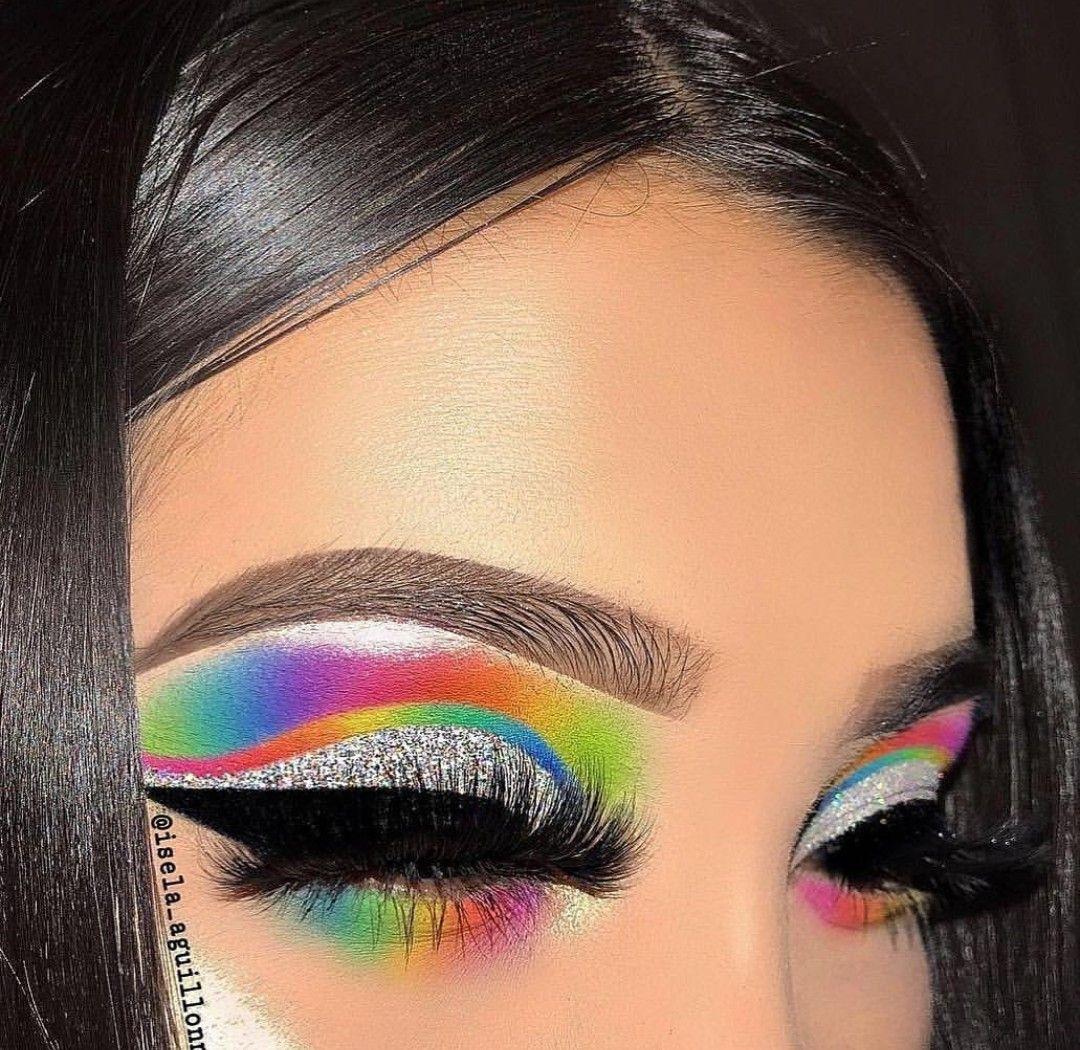 Ъεℓℓค Ъℓεรรε∂ ⋆⊰ Rainbow eye makeup, Dramatic eye makeup