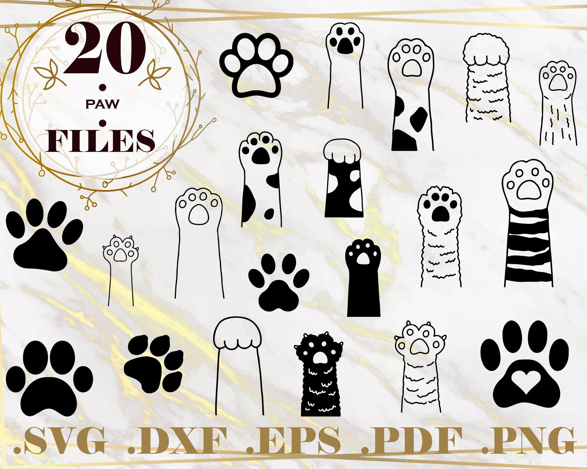 PAW SVG, paw print monogram, animals, paw vector, dog love