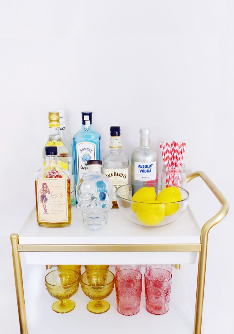 Bar Cart Style: Tips on Styling and Stocking a Home Bar | See, Love, Covet