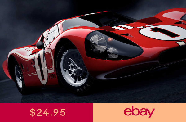 Le Mans Ford Gt40 Mark Iv Race Car Poster Print 20x36 Hi Res 9mil Paper Ford Gt Ford Gt40 Car Ford