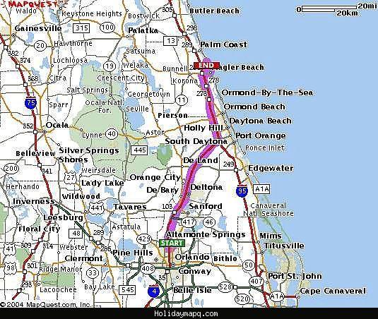 on map of flagler beach florida