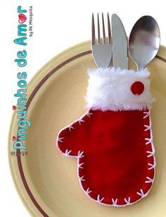 Luvinhas Porta Talheres - Natal #happynewyear