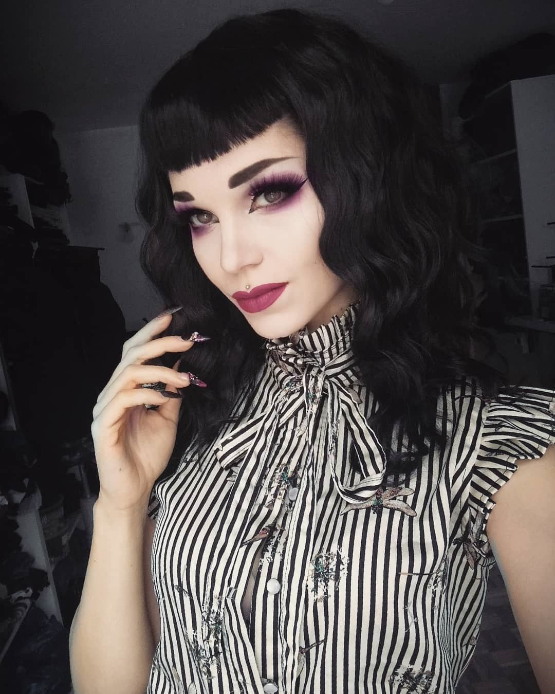 Haircuts Gothic Hairstyles Goth Hair Vampire Hair