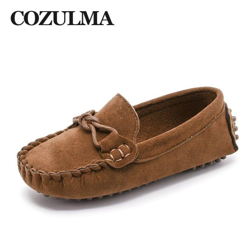 3acf3238b6ab9e Kaufen COZULMA Kinder Mokassin Slipper Schuhe Jungen Mode Sneakers Massage  Freizeitschuhe Kinder Mädchen Flache Lederschuhe Größe