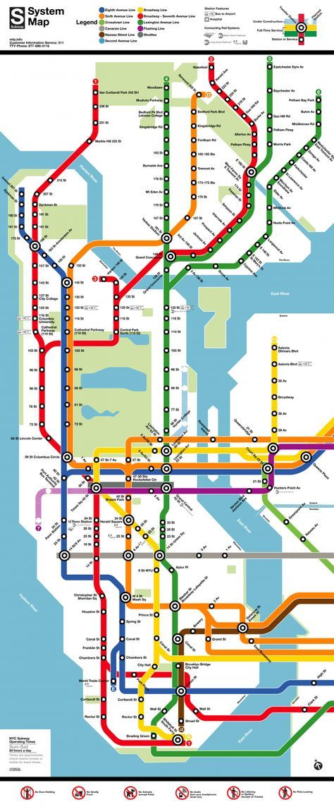 How To Purchase A Good New York City Subway Map.Know The Lines And Stops New York City Subway Map 2 50 Per Ride
