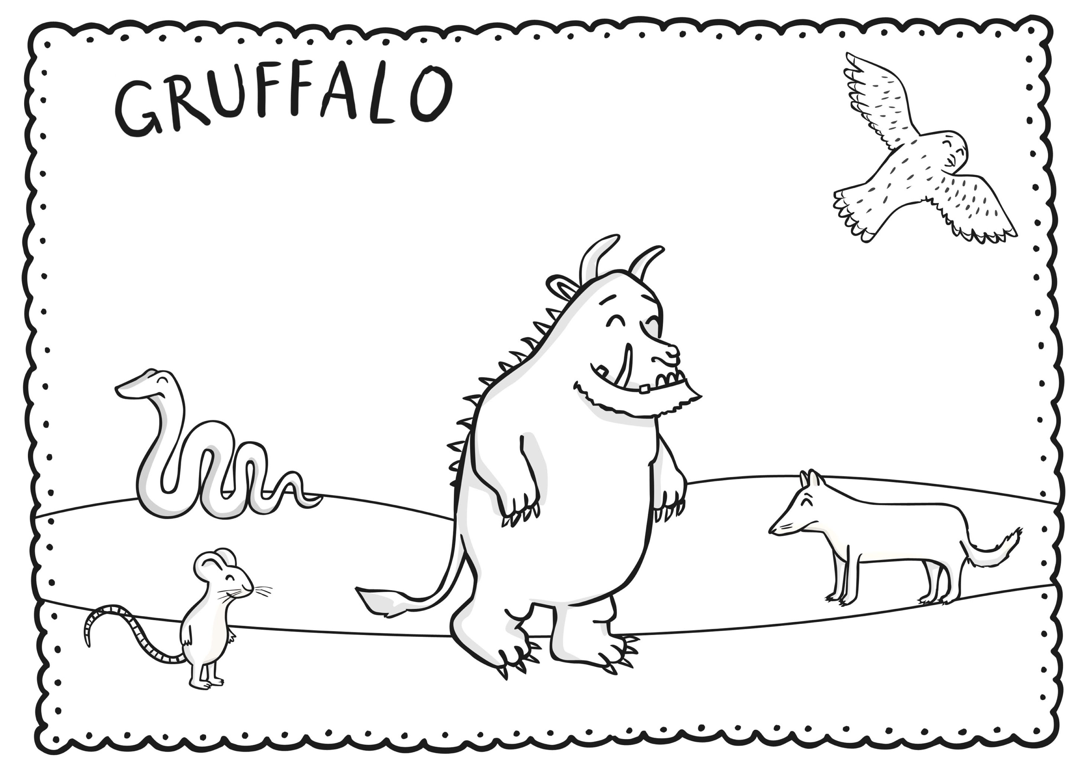 Kleurplaat De Gruffalo Gruffalo