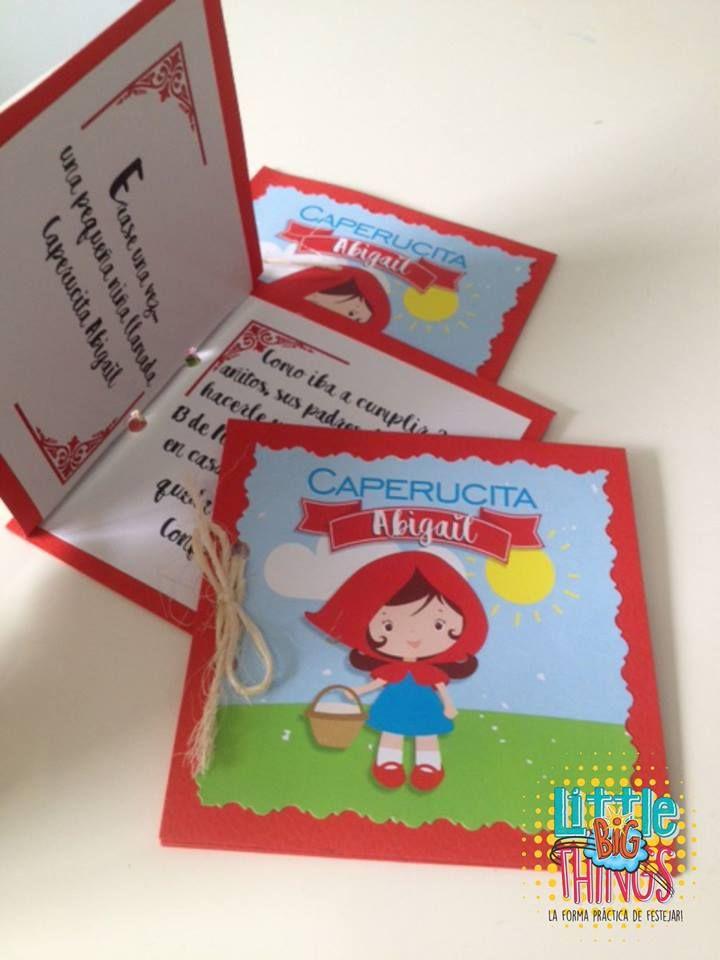Tarjetas De Invitación Kit Decorativo Caperucita Roja Party