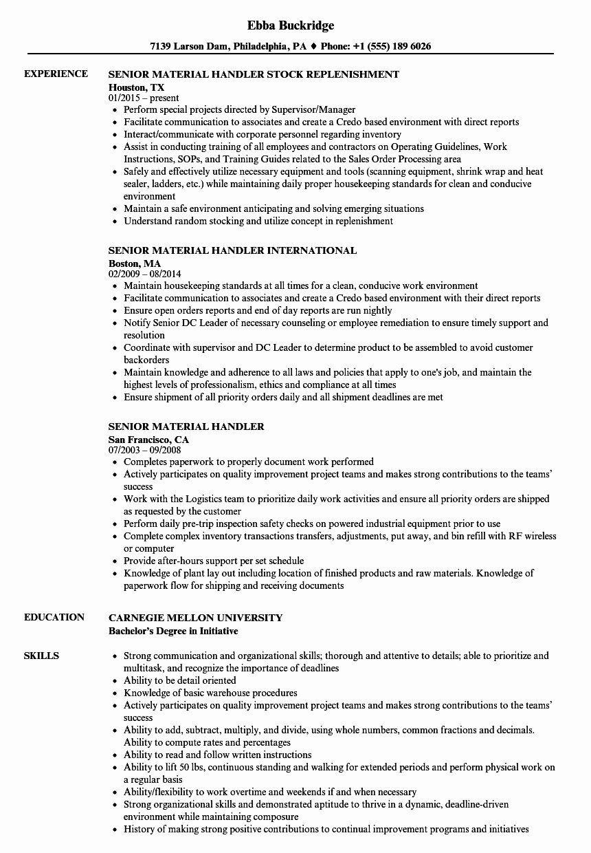 Fedex Package Handler Resume Beautiful 12 13 Fedex