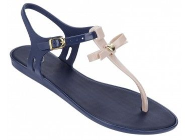 297531032083f Mel by Melissa Special 2 Bow  T-bar toe-post sandal