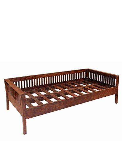 Diwan With Slatted Wood Buy Living Room Furniture Living Room Furniture Online Wooden Sofa Designs