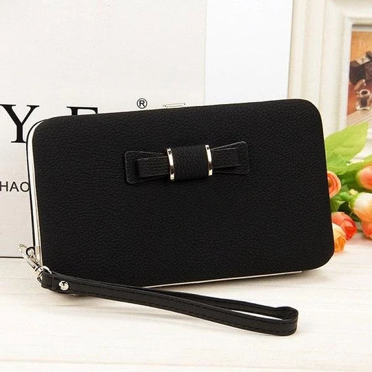 New Female Wallets Fashion Leather Wallet Clutches Korean Cute Purse Famous ladiesintothea #leatherwallets