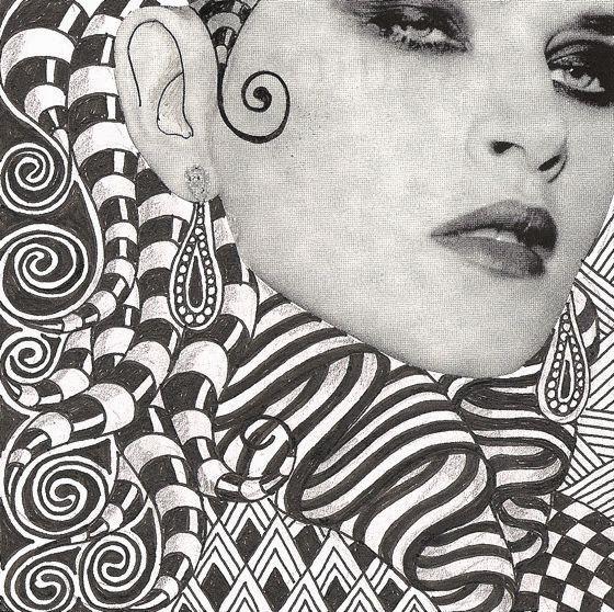 "patternprints journal it: LE BELLISSIME ""ZENTANGLE LADIES"" DI BANAR"