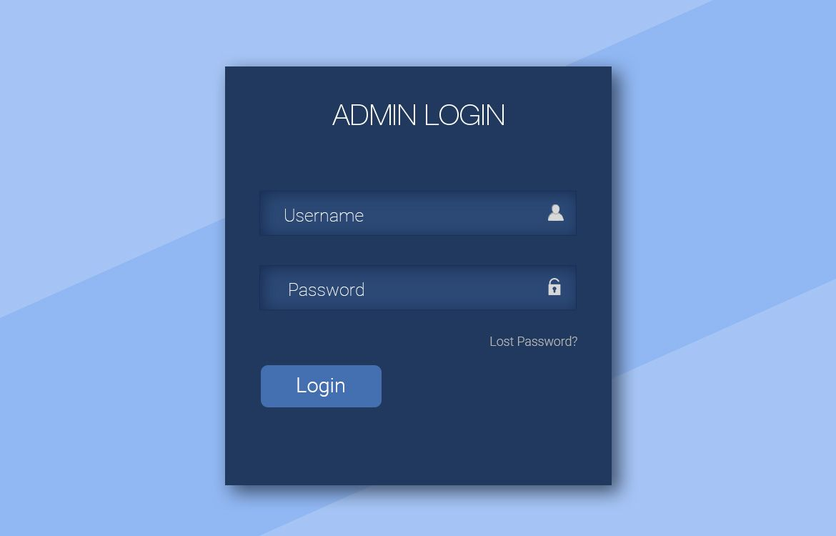 An amazing admin login form for your personal use