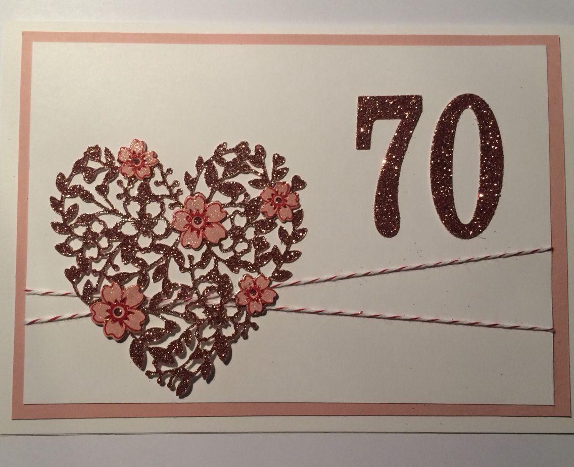 Geburtstag Karte 70 S. U.