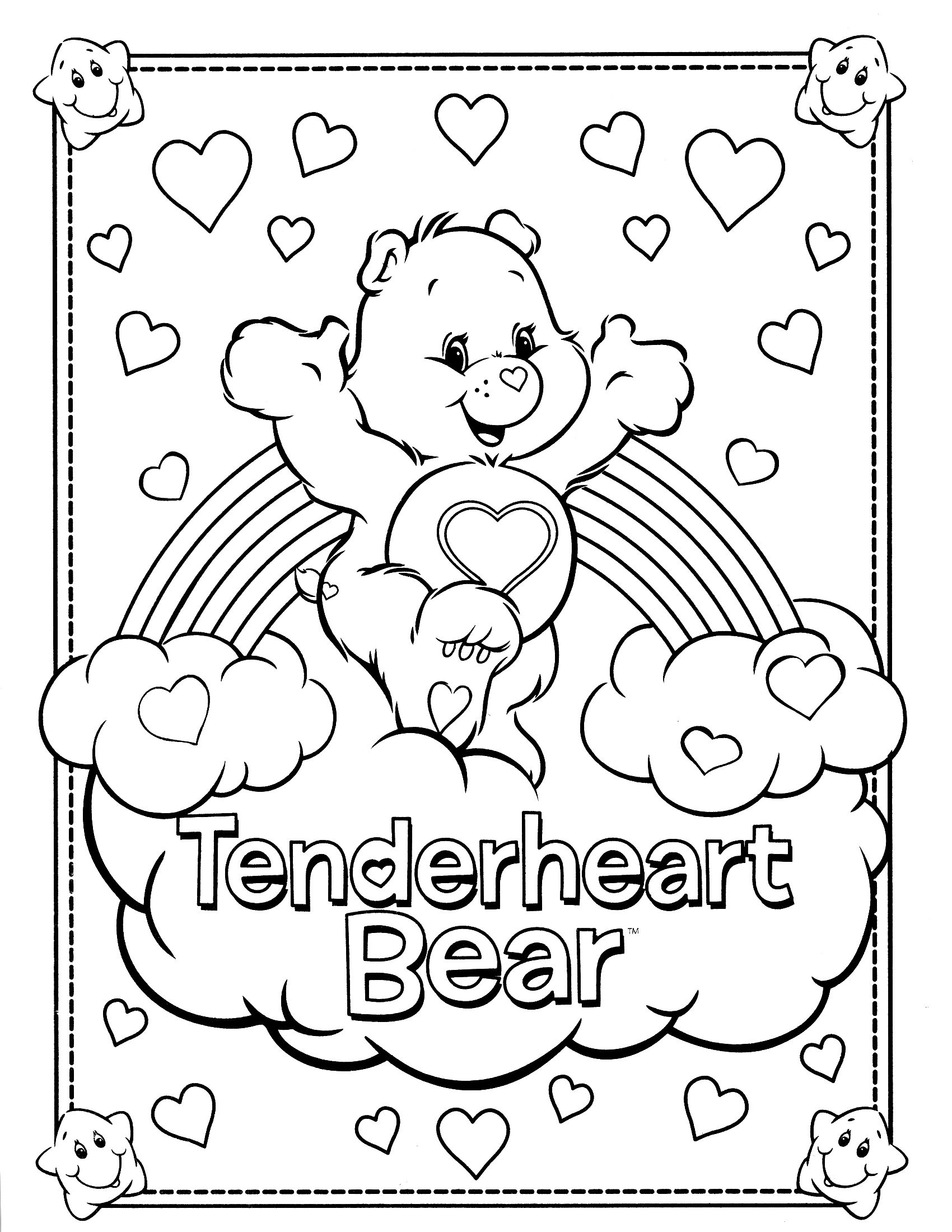 Coloring Pages Coloring Pages Of Care Bears 1000 images about care bear tenderheart 4 on pinterest coloring free printable pages and search
