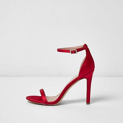 e7a9f85e99b Red barely there heeled sandals  70.00