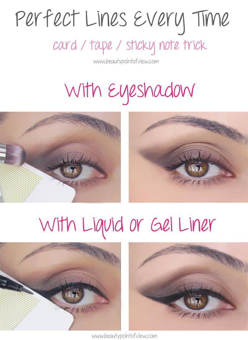Diese unglaublichen Schönheitstipps musst du unbedingt ausprobieren - perfekte Eyeliner Linie