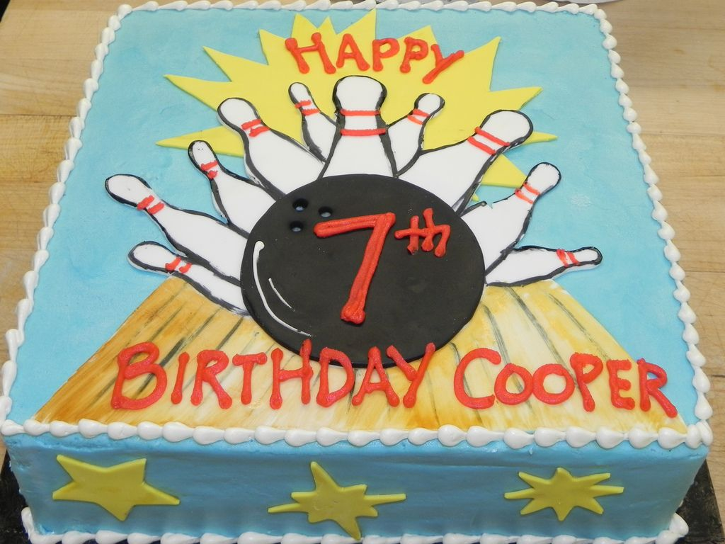 Remarkable Bowling Birthday Cake With Images Bowling Birthday Cakes Personalised Birthday Cards Paralily Jamesorg