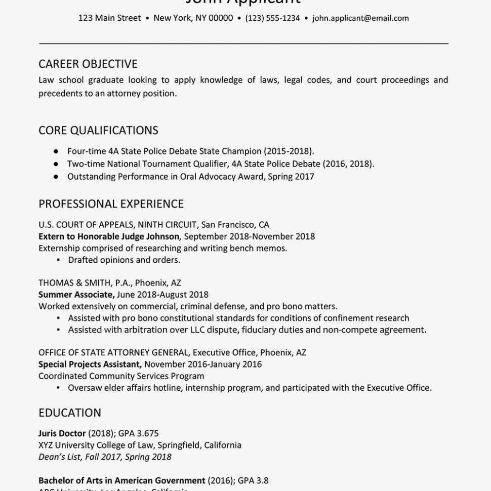 13 Law Student Resume 1l