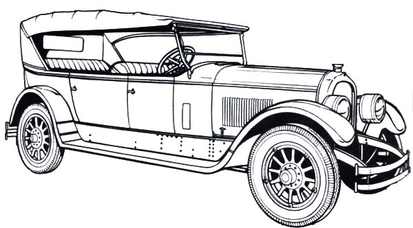 1924 Marmon Old Classic Car Coloring Pages Netart Old Classic Cars Cars Coloring Pages Classic Cars