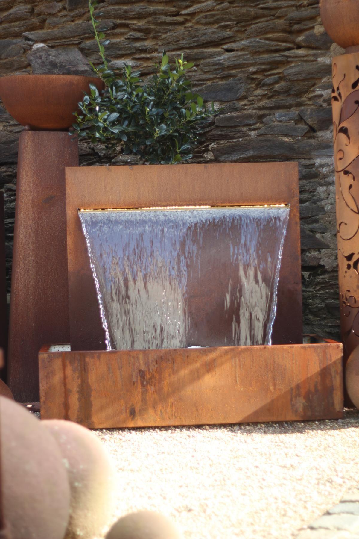 Wasserspiel Cortenstahl Wasserfall 90 Im Edelrost Design Inkl Pumpe 1001000064 Gartenbrunnen Wasser Im Garten Wasserspiel Garten