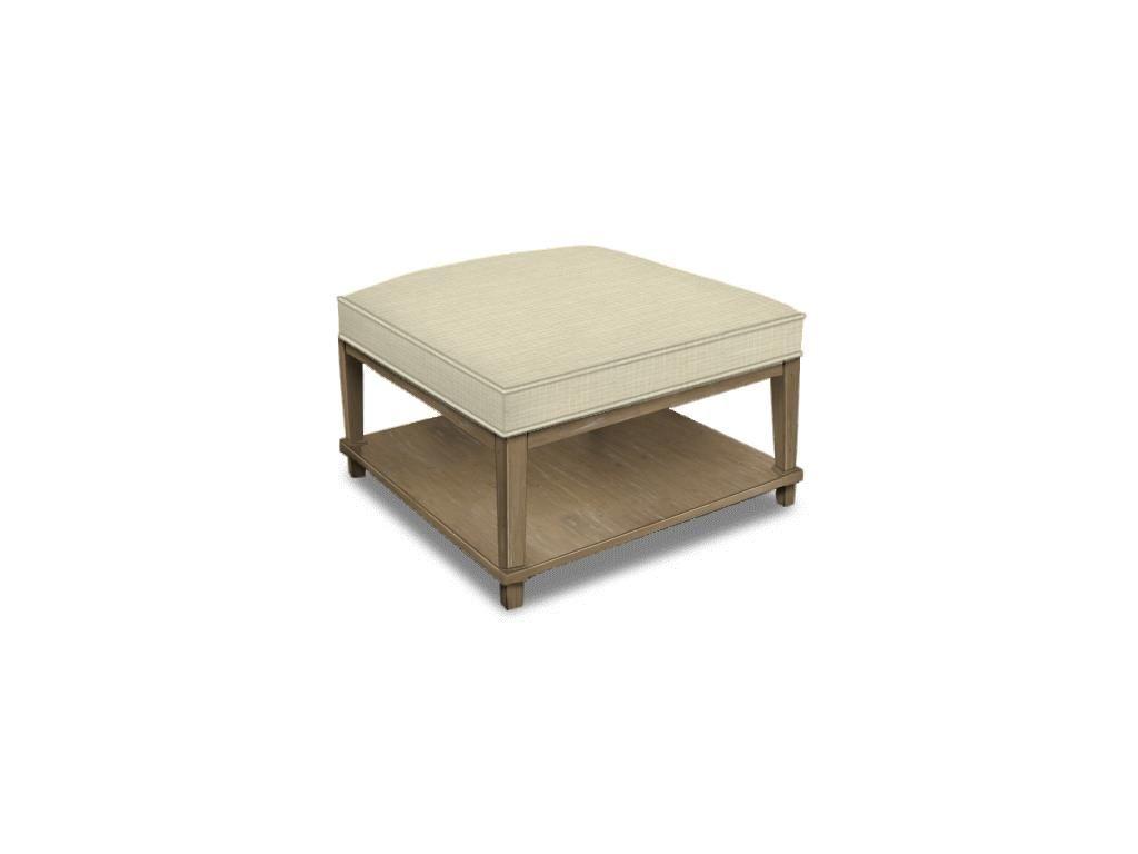 Square Ottoman w/Shelf 40 x 40 or 32 x 32