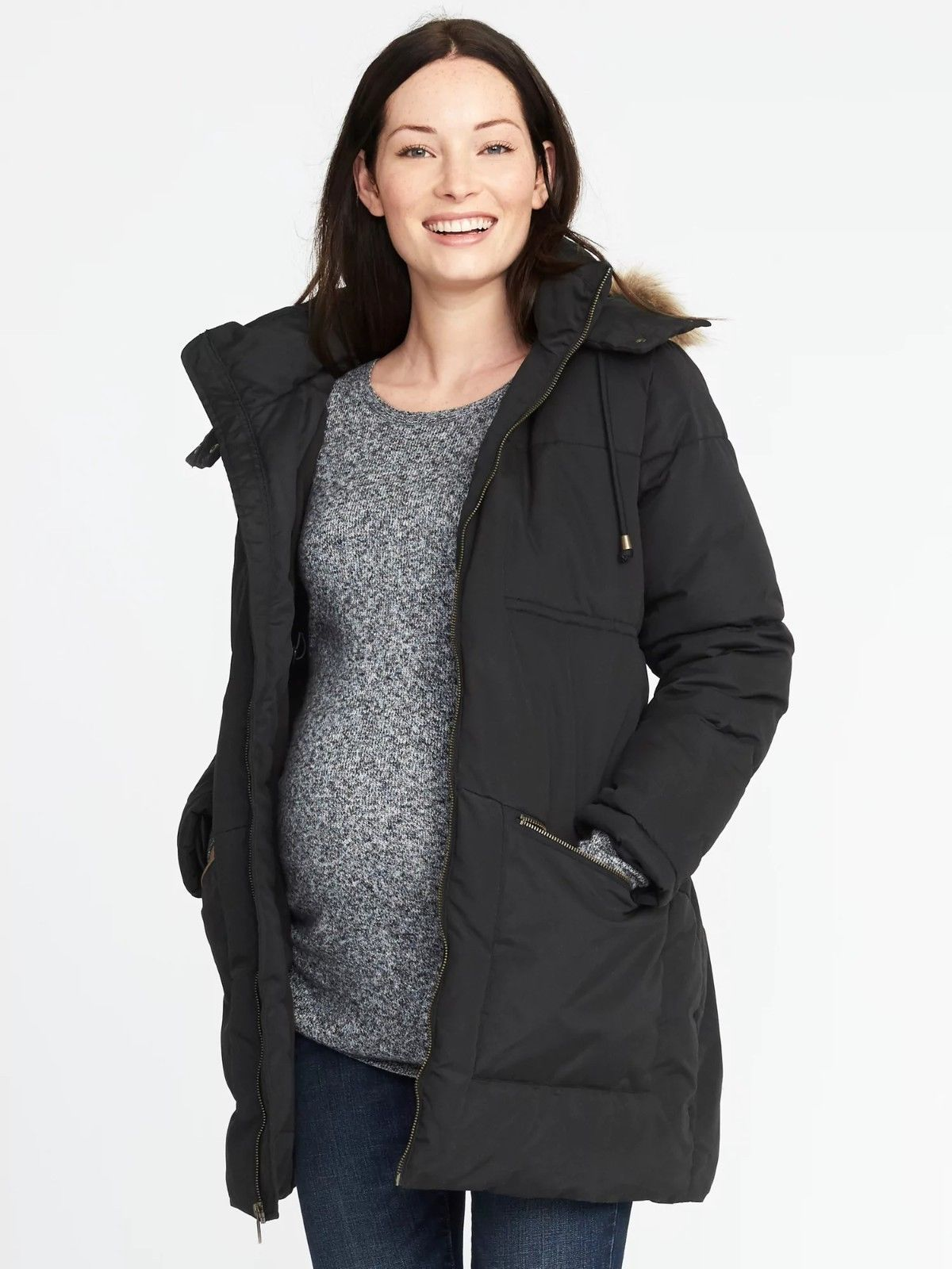 62f602f9eba5b Coats and Jackets 63856: Old Navy Maternity Hooded Frost Free Parka Jacket  Coat Nwt! L Large -> BUY IT NOW ONLY: $59.99 on eBay!