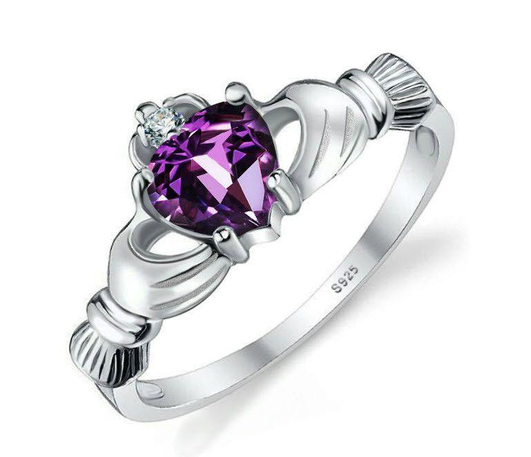 Irish Claddagh Ring 925 Sterling Silver