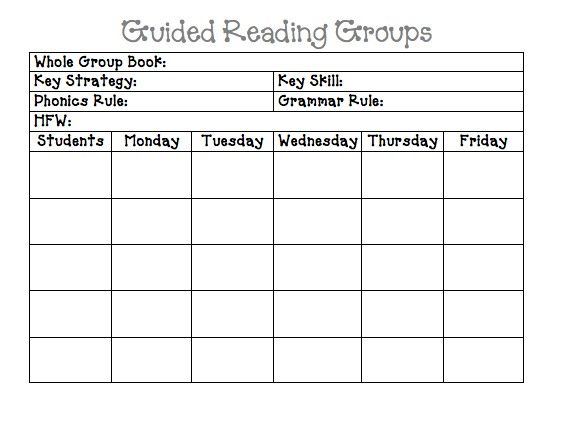 Guided Reading Groups Lesson PlanMay Have To Change The Phonics - Reading group lesson plan template