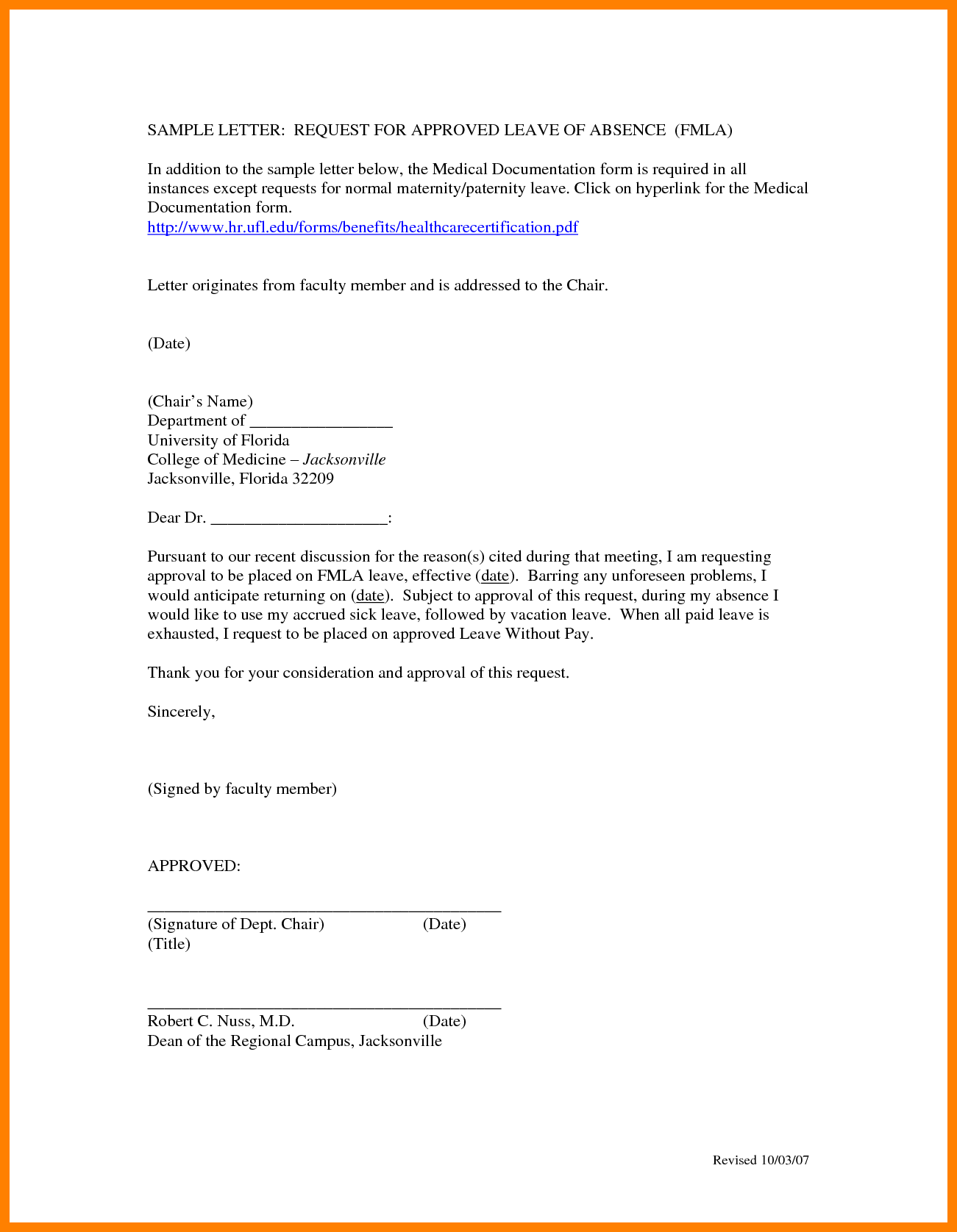 Vacation Letters Resume Cover Letter Emergency Leave Sample