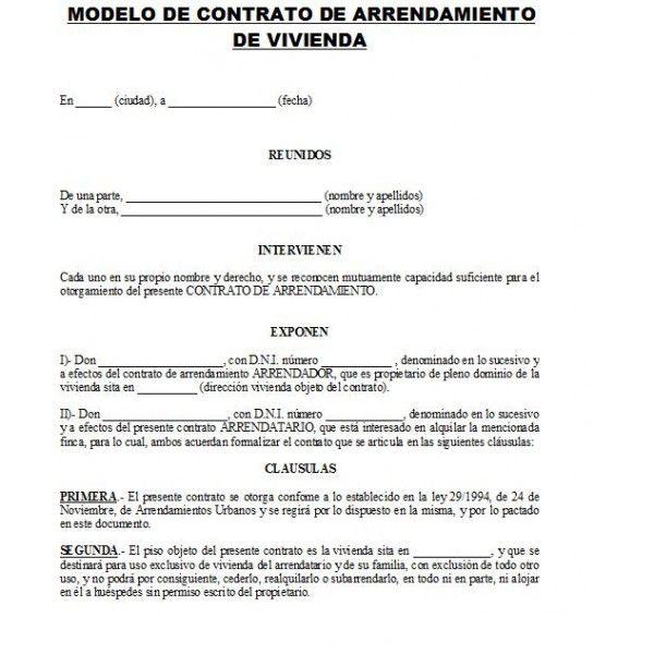 Contrato de alquiler de apartamento related pictures for Contrato de arrendamiento de oficina